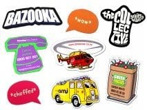 Custom fridge magnets, any shape or size you can imagine, pre-made shapes include cow, van, helicopter, phone, waste bin, callout shapes