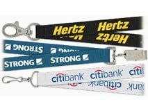 Custom printed lanyards to display your company logo or design