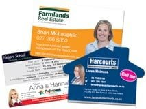Real estate magnets are a perfect fridge magnet promotional tool. House shaped custom magnets available.