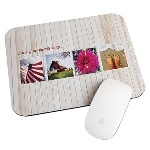 Full colour custom printed mouse pads to display your company logo or design
